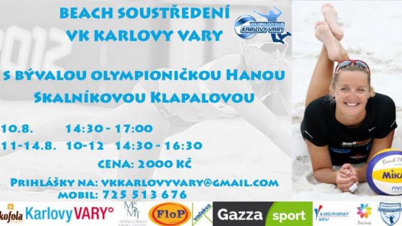 Historicky první beachvolejbalový kemp, který pořádá VK Karlovy Vary