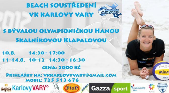 Foto: Historicky první beachvolejbalový kemp, který pořádá VK Karlovy Vary