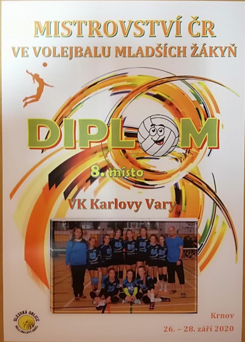 Foto: 8.místo v České republice ml.žákyně VK Karlovy Vary